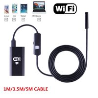 Wholesale WIFI Endoscope for iPhone Android Mobile and Laptop M M M Cable mm Lens Ipx67 LED Borescope Snake Camera