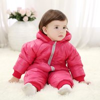 Wholesale Winter Newborn Baby Girl Clothes Candy Color Zipper Baby Boy Clothes Coverall Clothing Warm High Quality Winter Baby Cloth