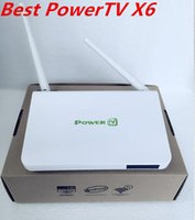 Wholesale Genuine PowerTV X6 Best Lifetime free forever IPTV channels Arabic android iptv box live TV channels europe France Africa