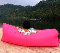 Wholesale Europe and the United States Lamzac Lazy Outdoor Inflatable Sofa Beach Chair Portable Folding Air Sofa Bed