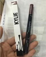 Wholesale HOT Kylie double eyebrow pencil Jenner eyeliner cosmetics side makeup tool for dark eyes brow pencils Liquide waterproof Black and brown