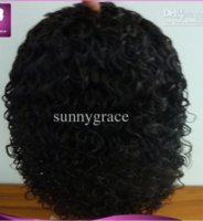 Swiss Lace baby jet - Natural color Brazilian Afro curly lace Front wig density Jet Black Human Hair Wigs With Baby Hair