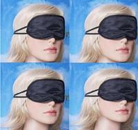 Wholesale Sleep Mask Eye Mask Shade Nap Cover Blindfold Sleeping Sleep Travel Rest Fashion Black Colors