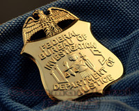 art safe - The United States Federal Collection of Copper Badges US FBI Department of Justice Eagle Metal Badge