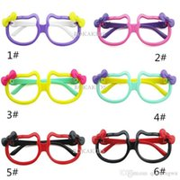 Wholesale 2015 New Arrival Cute Shape apple bow candy color special design children baby child glasses frame low price men and women A071002