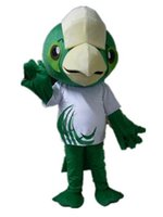 big green parrot - SM0424 adult green big head parrot mascot costume for adult to wear