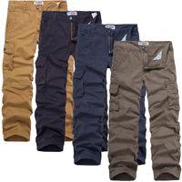 athletic cargo pants - Simple Cargo Men Pants Trousers Athletic Zipper Fly Low Waist Men Pants for Men with Flannel