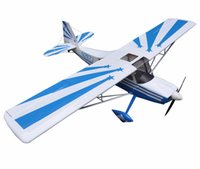 balsa airplane kits - White Decathlon quot Glow Electric model Plane Channels ARF RC Balsa Wood Airplane