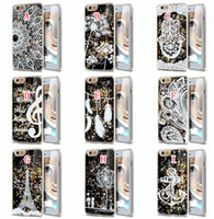 Pineapples - Liquid Glitter Quicksand Hard Case Flower Henna Woman Music Pineapple Feather Dreamcatcher For Iphone S Plus Samsung Galaxy S5 S6 S7 EDGE