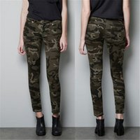 army pants for women - Army Camouflage Womens Pencil Pants Skinny Strecth Palazzo Women Pants Trousers Capris with Cotton for US EU TM4001