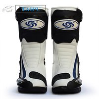 Wholesale NEW B1002 Motorcycle Boots Pro Biker SPEED Boots For Motorcyle Racing Motocross Boots BLACK RED WHITE