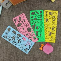 Wholesale 4 Cute Art Graphics Symbols Drawing Template Ruler Student Kids Drafting Stencil Ruler Stationery