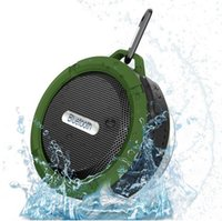 Wholesale New C6 Portable Wireless Bluetooth Speaker With Calls Handsfree and Suction Cup Waterproof Bluetooth Shower Speaker