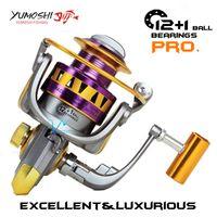 Wholesale YUMOSHI brand Fishing reel spinning reel Metal main body BB Carretilha de pescaria Moulinet peche Moulinet spinning