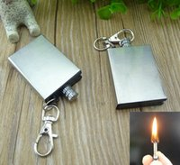 backpacking cook stove - Hiking Camping Tools Key Chain Ring Flints Metal Match Fire Starter Flint Gas Oil Permanent Outdoor Gear Camping Lighter Stoves Cooking