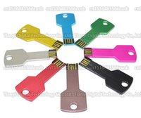 Wholesale 16GB GB GB GB GB Creative metal key USB flash drive pendrive memory stick USB External storage disk