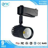 Wholesale AC90 v COB chip black wall mouted led track lights Dimmable LED Track Light for shops k w lights