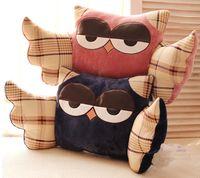 Wholesale 55 cm Cartoon Owl Plush Red Navy Pink Wing Nightowl Waist Pillow Office Sleep Cushion kIDS Birthday Gift