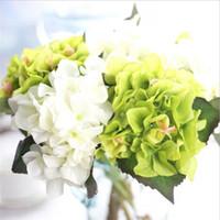 arranged weddings - Simulation Short branch hydrangea plants arrange wedding artificial flowers Valentine s Day flowers home decor desk flower K16184