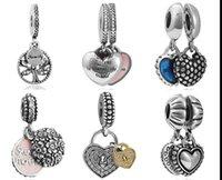 Wholesale Dangle Pendant Charm Sterling Silver European Charms Bead Fit Snake Chain Bracelet Fashion DIY Jewelry Christmas Xmas