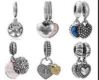 Wholesale Dangle Pendant Charm Silver European Charms Bead Fit Snake Chain Bracelet Fashion DIY Jewelry Christmas Xmas