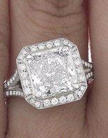 certified diamond ring - GIA Certified Princess Cut Round Brilliant Diamond Engagement Ring