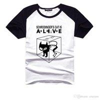 big cooper - Fashion The Big Bang Theory Men s t shirt Sheldon Cooper Schrodinger s Cat Alive Printing t shirt Cool Tee Shirt Short Sleeve