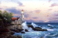 beacon painting - art Oil paintings Beacon of Hope thomas Thomas Kinkade canvas reproduction Handmade High quality