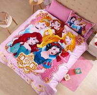 ariel washing - girl kids bed set for girls Rapunzel Ariel queen size princess cartoon bedding sets twin full size cartoon bed sheets