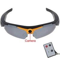 Wholesale Super Sunglasses Camera Mini Sunglasses Video Camera x720P HD MP CMOS Sensor Lithium Battery GB TF Card Slot with Remote