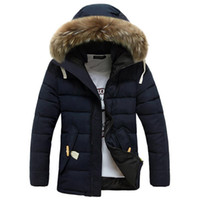 Wholesale Fall Winter Jacket Men Thick Warm Casual Coats Fur Collar Down Jacket Windproof Hooded Outwear Mens New Brand Parkas