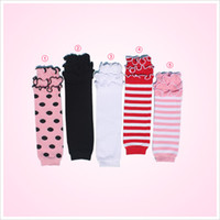 armed wholesalers products - Hot Sale Baby Products Baby Girls Boys Leg Warmer Ruffle Leg Warmer For Toddler Free Size Cotton Stripe Arm Warmers