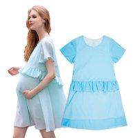 Wholesale Retail Summer Style Chiffon Maternity Dresses Maternity Photography Props Mother Dresses High Quality Pregnancy Women Dress Clothes