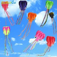 Wholesale Hot Octopus Kite Single Line Stunt Software Power Kites With Flying Tools Inflatable amp Easy To Fly Outdoors Fun Kites Games