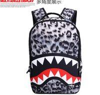 Wholesale New Arrival Middle School Student Shark Mouth Backpack Men Women Versatile School Bag Casual Canvas Famela Shoulder Bag