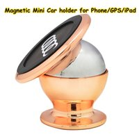 Wholesale New Magnetic Car Holder Degrees Rotation Cell Phone Holder Mini Car Stander Strong Dashboard Mount For iPhone Samsung GPS DHL Free