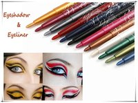 Wholesale Cheap M N Menow Brand Eye Shadow Liner Combination Eyeliner Pen Make up Pencils Beauty Cosmetic Rotating colors bright eyeliner set
