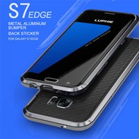 apple bumper sticker - Luphie Rapier Series Metal Case for SAMSUNG Galaxy S7 Edge S7 Aircraft Aluminum Bumper Frame Phone Cover Back Leather Sticker