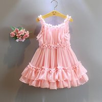 adorable baby animals - halloween New Adorable Fashion Cute Pearl Pink Ruffle Ball Skirt Flower Girl Dresses Baby Toddler Party Little Girls Pageant Dresses