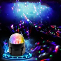 Wholesale 6color Magic Music Rhythm Activated LED Lights For KTV Party Wedding Show Club Pub DiscoDJ stage lighting with USB charger line