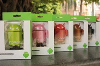 google android mini speaker - Google Android Robot Speaker Mini Portable Lovely Speaker Support U Plate MP3 Player TF Card Slot Speakers PC UP