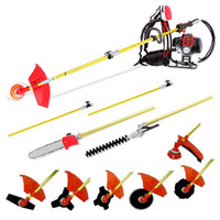 air cutter saw - 52CC Back pack multi brush cutter grass trimmer chain saw hedge trimmer in