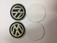 Wholesale 100Pcs Car VW Stickers Wheel Center Fits Hub Cap Stickers mm VW wheel center emblems for polo golf passat b5 touran bora