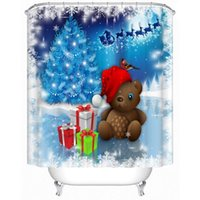 bear shower curtains - New Christmas Bear Shower Curtain Opacity Bedroom Drapes Classroom Decoration Cortinas