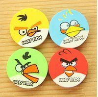 Wholesale Rubber eraser round colorful bird bird cartoon eraser a bag of mixed expression pattern