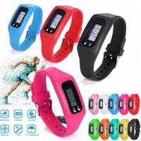 Sport Unisex Day/Date Digital LCD Pedometer Run Step Walking Distance Calorie Counter Watch Bracelet