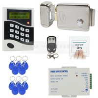 Wholesale DIY KHz RFID ID Card Reader Password Keypad Door Access Control System Kit Electric Lock Free ID Key Fobs B100
