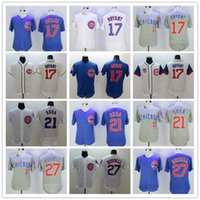 Wholesale Mens Kris Bryant Sammy Sosa Addison Russell Jerseys color White Blue Gray Green
