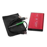 Wholesale In stock USB Inch SATA Enclosure External Case For Notebook Laptop Hard Disk RED Newest
