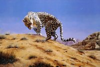 arabian painting - Original US High tech HD Print Oil Painting Art On Canvas Spencer Hodge Arabian Leopard x36inch Unframed